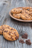 Chocolate chip coockies Royalty Free Stock Photos