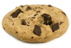 Chocolate Chip Cookie. Closeup image of a chocolate chip cookie stock photography