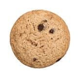 Chocolate Chip Cookie. A single chocolate chip cookie isolated on a white background Stock Photo