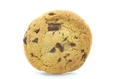 Chocolate Chip Cookie. One chocolate chip and chunk cookie on a white background Royalty Free Stock Images
