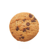 Chocolate chip cookie. Isolated on white stock images