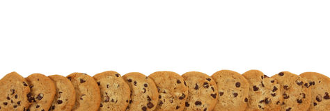 Chocolate Chip Cookie Boarder Stock Images