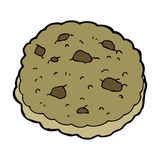 Chocolate chip cookie cartoon Stock Photo