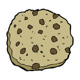 Chocolate chip cookie cartoon Stock Photography
