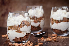Chocolate Chip Cookie Cheesecake Parfaits Royalty Free Stock Photos