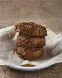 Chocolate Chip Cookie Closeup del chocolate Imágenes de archivo libres de regalías