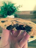Chocolate chip cookie. This chocolate chip cookies has more chocolate inside than any other you have ever tried before Royalty Free Stock Photography