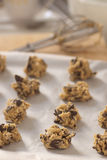 Chocolate chip cookie dough royalty free stock photos