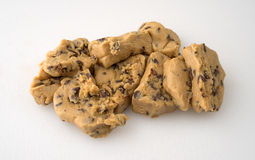Chocolate chip cookie dough on a cutting board Stock Photos