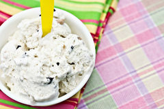 Chocolate chip cookie dough ice cream Royalty Free Stock Images