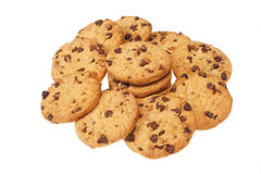 Chocolate chip cookie group Royalty Free Stock Photos