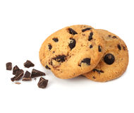 Chocolate chip cookie isolated Stock Images