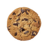 Chocolate Chip Cookie isolated with clipping path royalty free stock photo