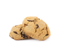 Chocolate chip cookie isolated Stock Photos