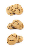 Chocolate chip cookie isolated Royalty Free Stock Image