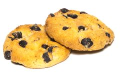 Chocolate chip cookie isolated on white background Royalty Free Stock Photos