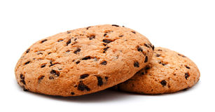 Chocolate chip cookie isolated Royalty Free Stock Photos
