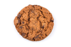 Chocolate chip cookie isolated on white Royalty Free Stock Photo