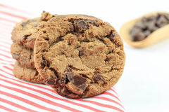 Chocolate chip cookie. Isolated on white background Stock Images