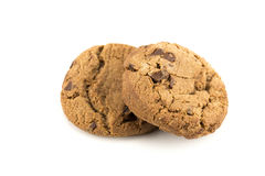 Chocolate chip cookie. Isolated on white background Royalty Free Stock Images
