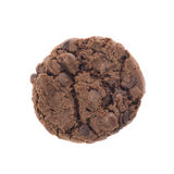Chocolate chip cookie isolated on white Royalty Free Stock Image