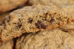 Chocolate chip cookie macro Stock Photography