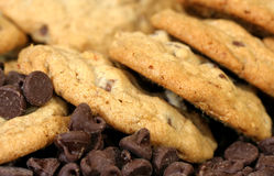 Chocolate Chip Cookie Macro Royalty Free Stock Image