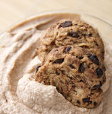 Chocolate Chip Cookie Mousse Royalty Free Stock Photo