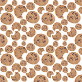 Chocolate Chip Cookie Seamless Background Royalty Free Stock Photo