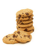Chocolate Chip Cookie Stack Royalty Free Stock Photo