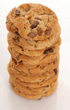 Chocolate chip cookie stack Royalty Free Stock Image