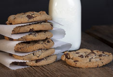 Chocolate Chip Cookie Stack imagens de stock royalty free