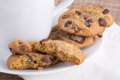 Chocolate Chip Cookie Treat Stock Images