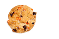 Chocolate chip cookie on white Stock Photography