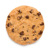 Chocolate Chip Cookie. On White Stock Photo