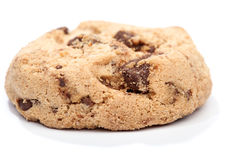Chocolate chip cookie,  on white Royalty Free Stock Images