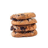 Chocolate chip cookie on white background. isolated Royalty Free Stock Images