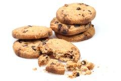 Chocolate Chip Cookies Foto de archivo libre de regalías