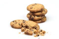 Chocolate Chip Cookies Imagen de archivo libre de regalías