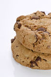 Chocolate chip cookies. Delicious and fresh chocolate chip cookies Royalty Free Stock Photo