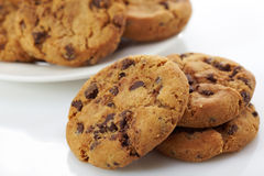 Chocolate chip cookies Royalty Free Stock Photography