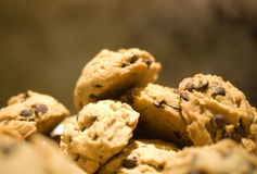 Chocolate chip Cookies. Homemade chocolate chip cookies, selective focus Stock Photo