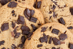 Chocolate Chip Cookies. Close-up homemade chocolate chip cookies Stock Image