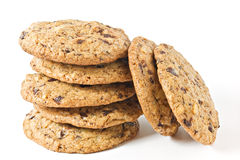 Chocolate Chip Cookies. Stack Of Chocolate Chip Cookies Royalty Free Stock Image
