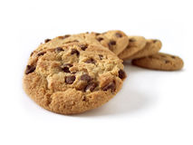 Chocolate Chip Cookies 3 (path included) Royalty Free Stock Images
