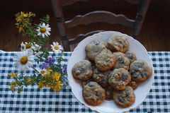 Chocolate Chip cookies. Plate of Chocolate chip cookies Stock Image