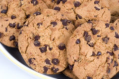 Chocolate Chip Cookies. A bowl of chocolate chip cookies Royalty Free Stock Photography
