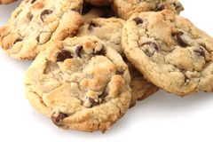 Chocolate Chip Cookies. Freshly baked out of the oven stock image