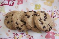 Chocolate Chip Cookies foto de archivo