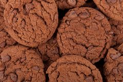 Chocolate chip cookies background Royalty Free Stock Image